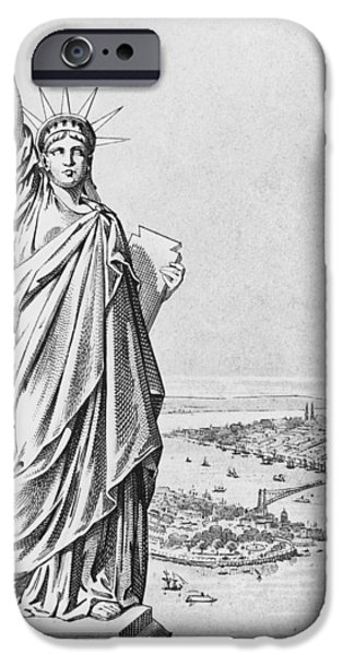 1904 iPhone Cases - The Statue of Liberty New York iPhone Case by American School