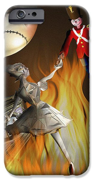 Steadfast iPhone Cases - The Steadfast Tin soldier ...the envy... iPhone Case by Alessandro Della Pietra