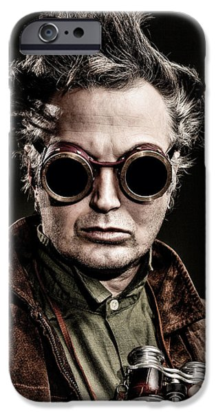 Dr Who iPhone Cases - The Steampunk - Sci-Fi iPhone Case by Gary Heller