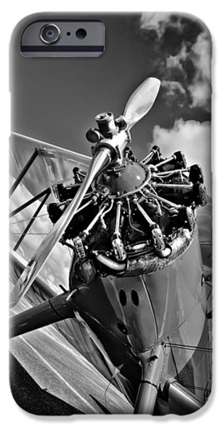 Monotone iPhone Cases - The Stearman Airplane iPhone Case by David Patterson