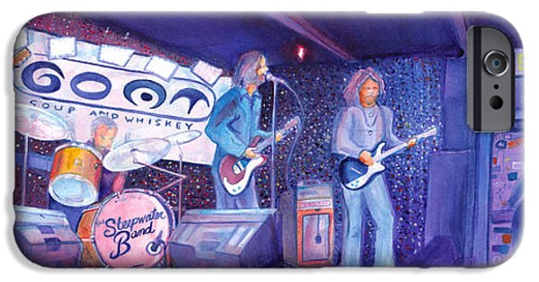 Chicago Paintings iPhone Cases - The Steepwater Band iPhone Case by David Sockrider