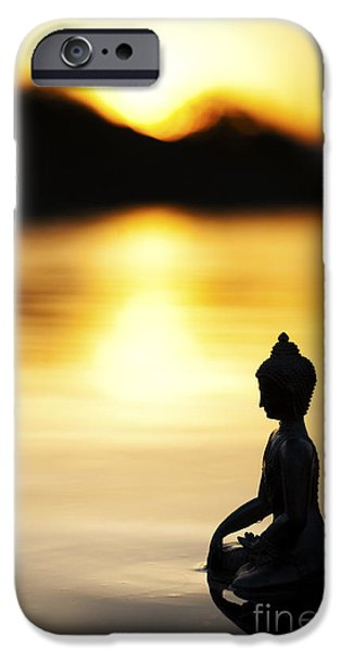 Buddhism iPhone Cases - The Stillness of Sunrise iPhone Case by Tim Gainey