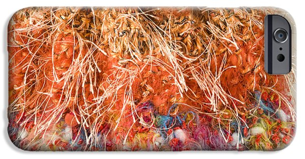 Abstractions Tapestries - Textiles iPhone Cases - The Stitches iPhone Case by Martha Nelson