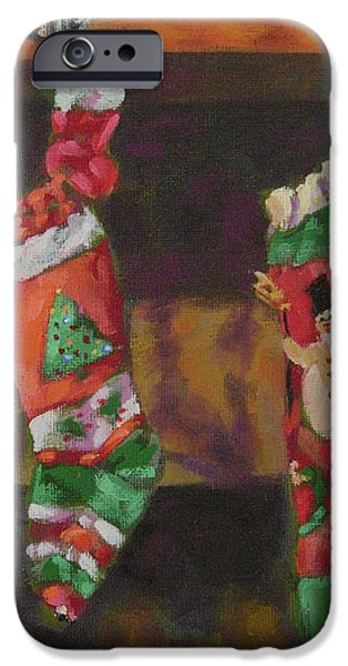 The Stockings iPhone Case by Gloria  Nilsson