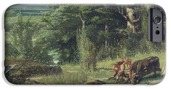The Horse iPhone Cases - The Stone Age iPhone Case by Octave Penguilly l
