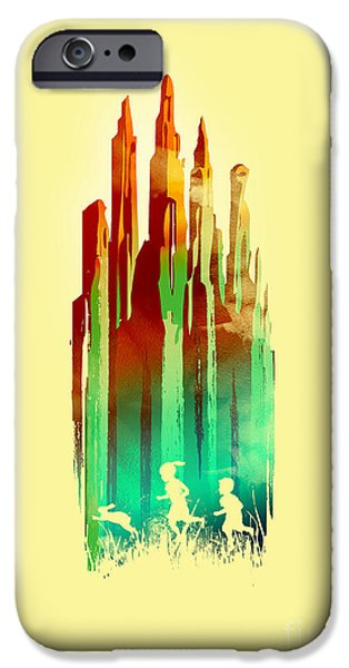 Surreal Landscape iPhone Cases - The stone castle iPhone Case by Budi Satria Kwan