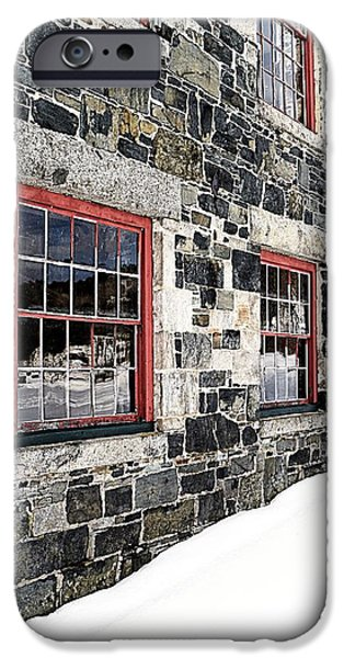 Barns iPhone Cases - The Stone Mill at the Enfield Shaker Museum iPhone Case by Edward Fielding