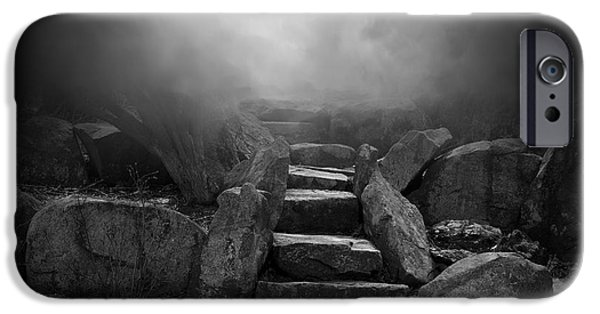 Dave Digital Art iPhone Cases - The Stone Steps I iPhone Case by David Gordon