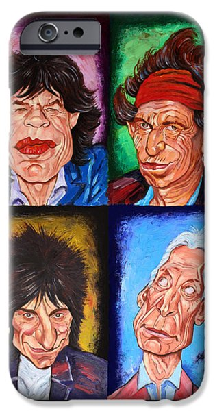 Keith Richards iPhone Cases - The ROLLING STONES iPhone Case by Dan Haraga