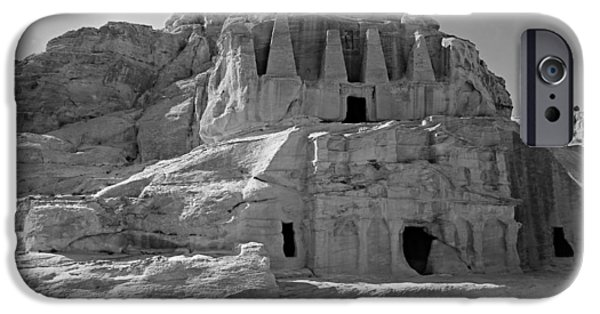 Jordan iPhone Cases - The Stones Still Speak - BW iPhone Case by Stephen Stookey