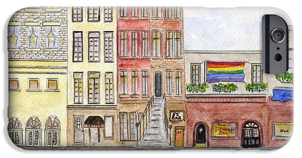 Stonewall Paintings iPhone Cases - The Stonewall Inn iPhone Case by Lynn Lieberman