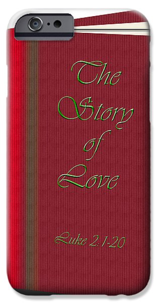 Christmas Greeting iPhone Cases - The Story of Love iPhone Case by Larry Bishop