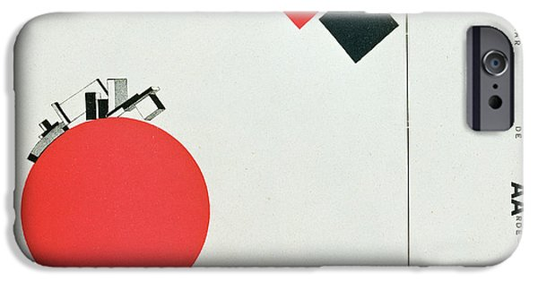 Recently Sold -  - Abstract Forms iPhone Cases - The Story of Two Squares iPhone Case by El Lissitzky