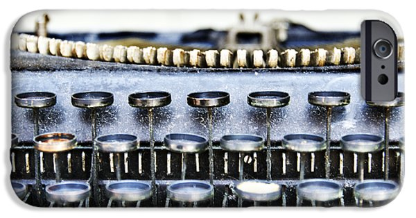 Typewriter Keys Photographs iPhone Cases - The Story Told 1 iPhone Case by Angelina Vick