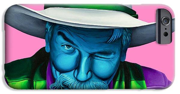 The Cowboy iPhone Cases - The Stranger- Color edit- iPhone Case by Ellen Patton