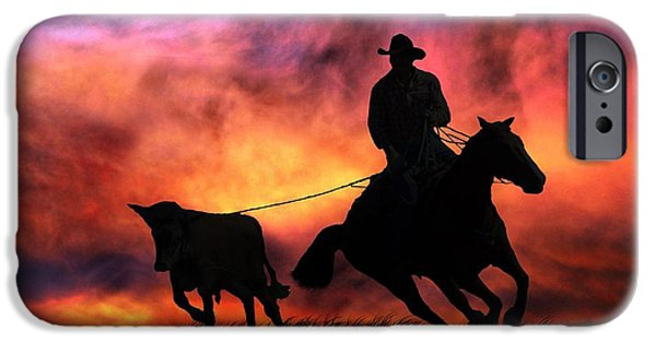 Roping Horse iPhone Cases - The Stray iPhone Case by Stephanie Laird