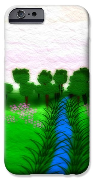 Gina Manley iPhone Cases - The Stream - A Digital Painting iPhone Case by Gina Lee Manley