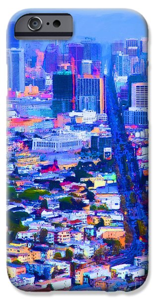 Bay Bridge iPhone Cases - The Streets of San Francisco 5D28040 vertical iPhone Case by Wingsdomain Art and Photography