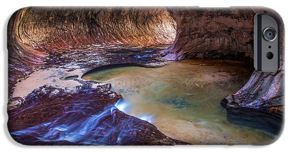 Permit iPhone Cases - The Subway Zion Utah iPhone Case by Pierre Leclerc Photography