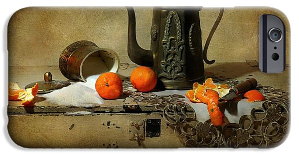 Still Life With Pitcher iPhone Cases - The Sugar Bowl iPhone Case by Diana Angstadt