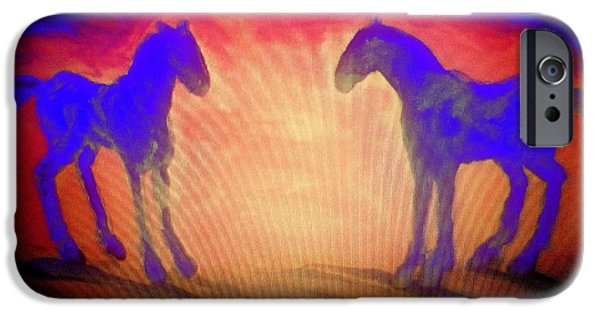 Altruism Paintings iPhone Cases - The sun also rises iPhone Case by Hilde Widerberg