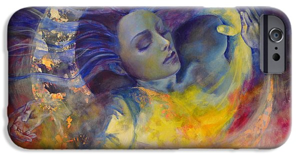 Moon iPhone Cases - The sun the moon and the truth iPhone Case by Dorina  Costras