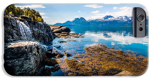 Norway iPhone Cases - The Sunny Arctic Ocean iPhone Case by Mikko Karjalainen