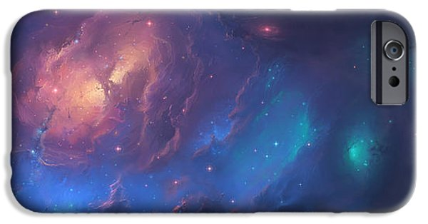 Stellar iPhone Cases - The Sunset Nebula iPhone Case by Tim Barton