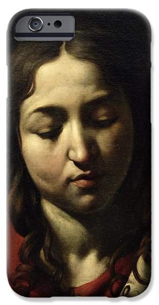 Michelangelo iPhone Cases - The Supper at Emmaus iPhone Case by Michelangelo Merisi da Caravaggio