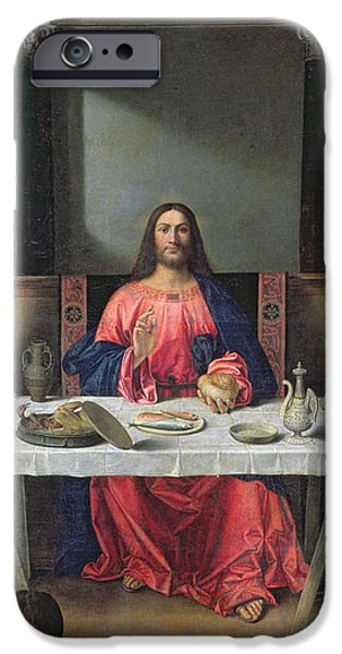 The Supper at Emmaus iPhone Case by Vittore Carpaccio