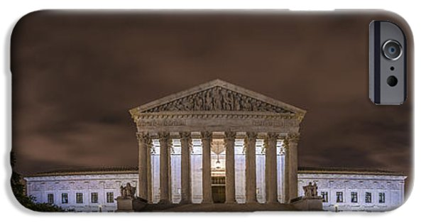 Constitution iPhone Cases - The Supreme Court in Color iPhone Case by David Morefield