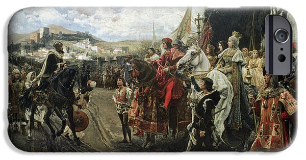 Royalty iPhone Cases - The Surrender of Granada iPhone Case by Francisco Pradilla y Ortiz