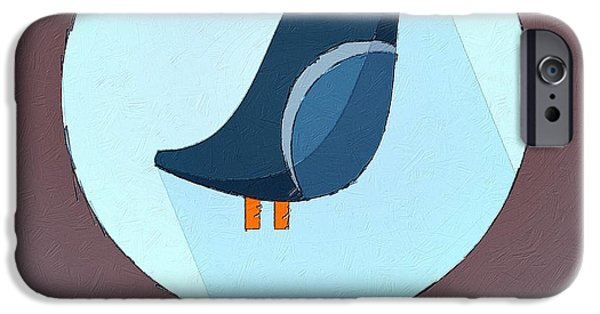 Swallow iPhone Cases - The Swallow Cute Portrait iPhone Case by Florian Rodarte