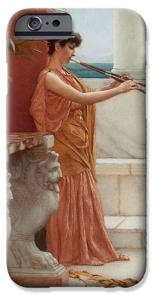The Tiger iPhone Cases - The Sweet Siesta of a Summer Day Detail iPhone Case by John William Godward