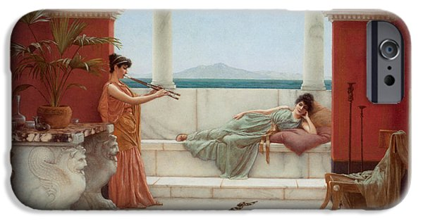 The Tiger iPhone Cases - The Sweet Siesta of a Summer Day iPhone Case by John William Godward