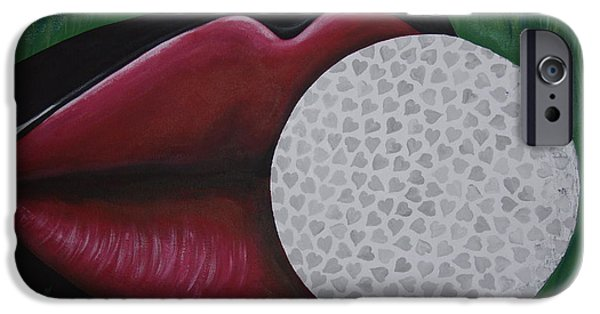 Lips iPhone Cases - The Sweet Spot iPhone Case by Dean Stephens
