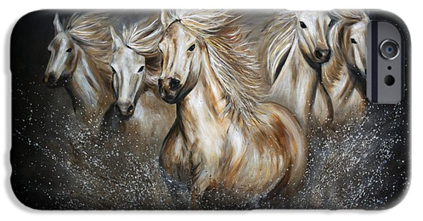 The Horse iPhone Cases - The Symphony iPhone Case by Teshia Art