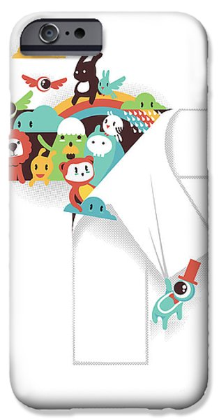 Child iPhone Cases - The T in the Team iPhone Case by Budi Kwan