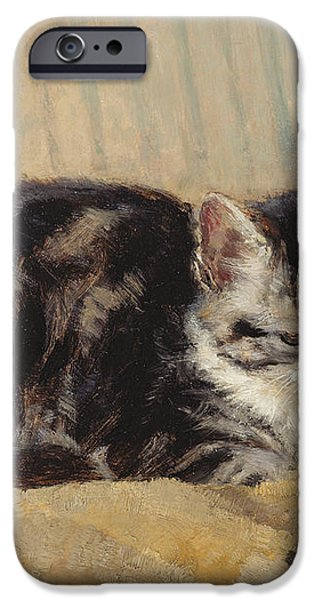 The Tabby iPhone Case by Henriette Ronner-Knip