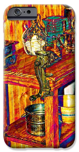 Work Tool Mixed Media iPhone Cases - The Table iPhone Case by Bob Pardue