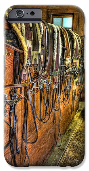 Equestrian Center iPhone Cases - The Tack Room - Equestrian iPhone Case by Lee Dos Santos