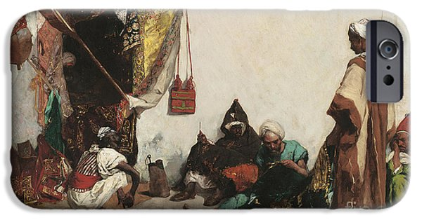 Mending iPhone Cases - The Tailors Shop iPhone Case by Jean Joseph Benjamin Constant