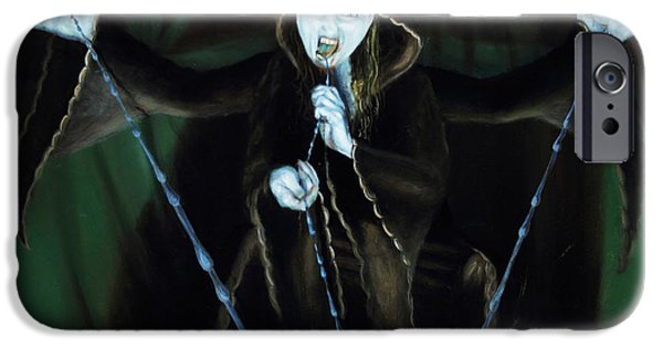 Spiritual Portrait Of Woman iPhone Cases - The Taker iPhone Case by Shelley  Irish