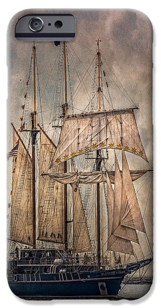 Pirate Ship iPhone Cases - The Tall Ship Peacemaker iPhone Case by Dale Kincaid