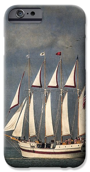 Tall Ship iPhone Cases - The Tall Ship Windy iPhone Case by Dale Kincaid