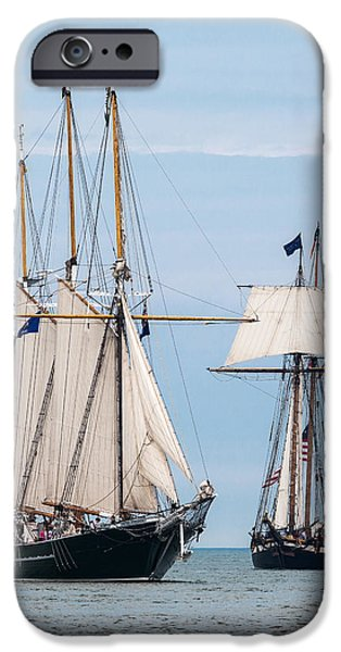 Pirate Ship iPhone Cases - The Tall Ships iPhone Case by Dale Kincaid