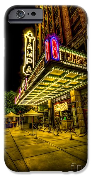 Big Screen iPhone Cases - The Tampa Theater iPhone Case by Marvin Spates