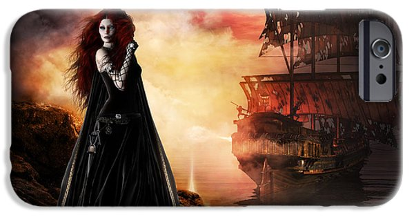 Red-haired Women iPhone Cases - The Tempest iPhone Case by Shanina Conway