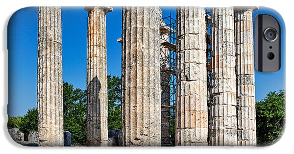 Zeus iPhone Cases - The Temple of Zeus in Nemea - Greece iPhone Case by Constantinos Iliopoulos