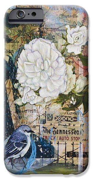 Nashville Tennessee Paintings iPhone Cases - The Tennessean iPhone Case by Andrea LaHue aka Random Act